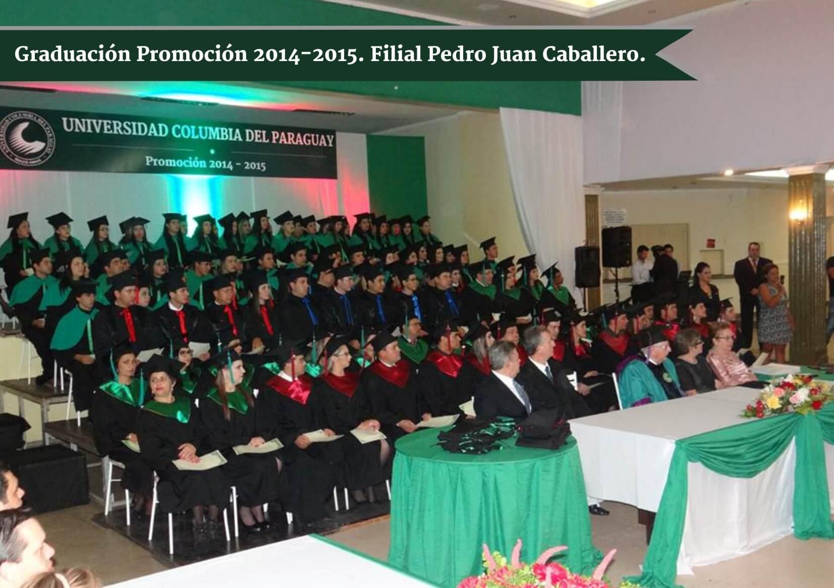 Graduación de la Promoción 2014-2015. Sede Pedro Juan Caballero.