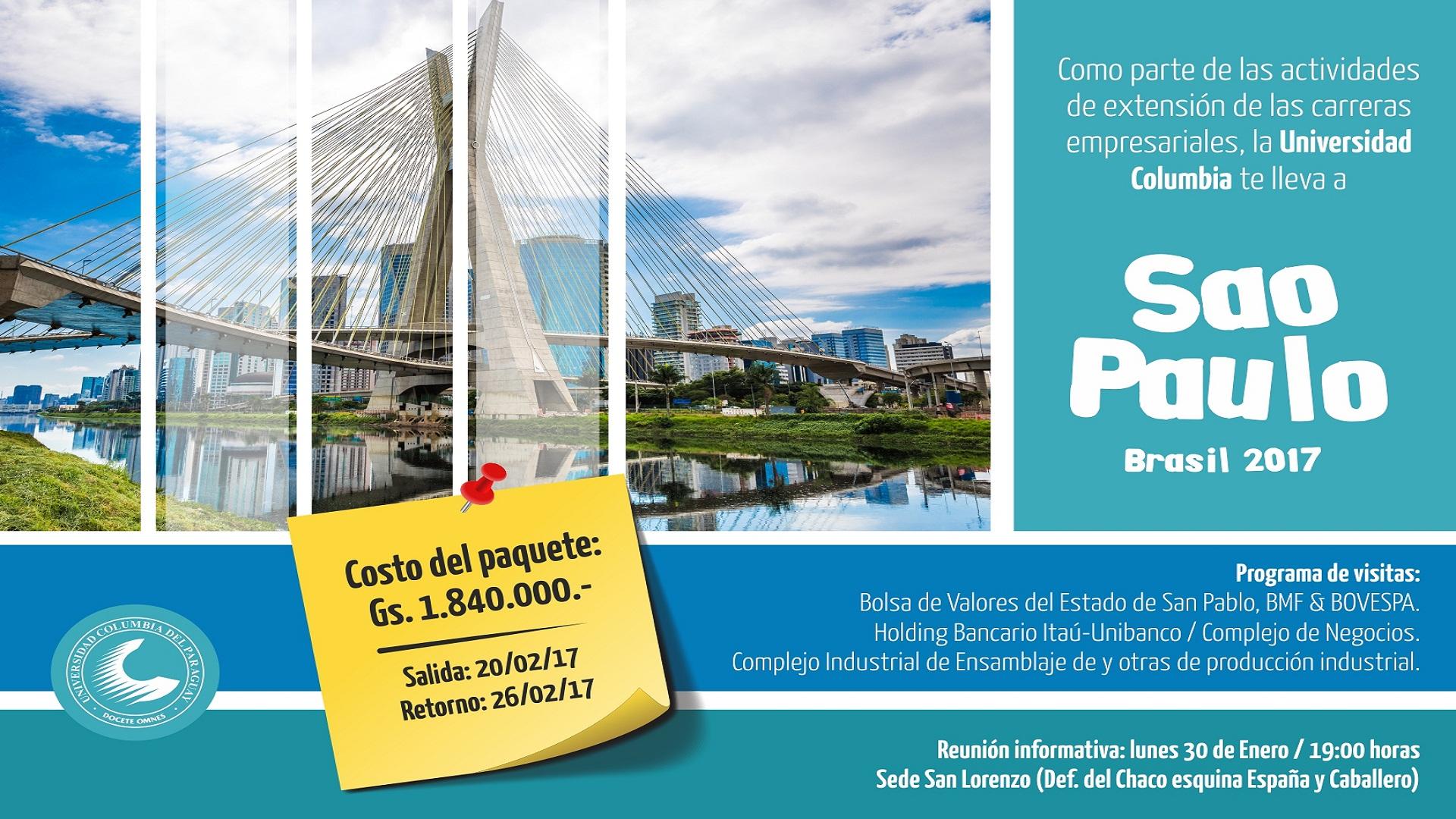 De Asunción a Sao Paulo, como actividad de extensión de carreras ...