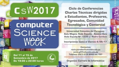 Resumen del Computer Science Week 2017