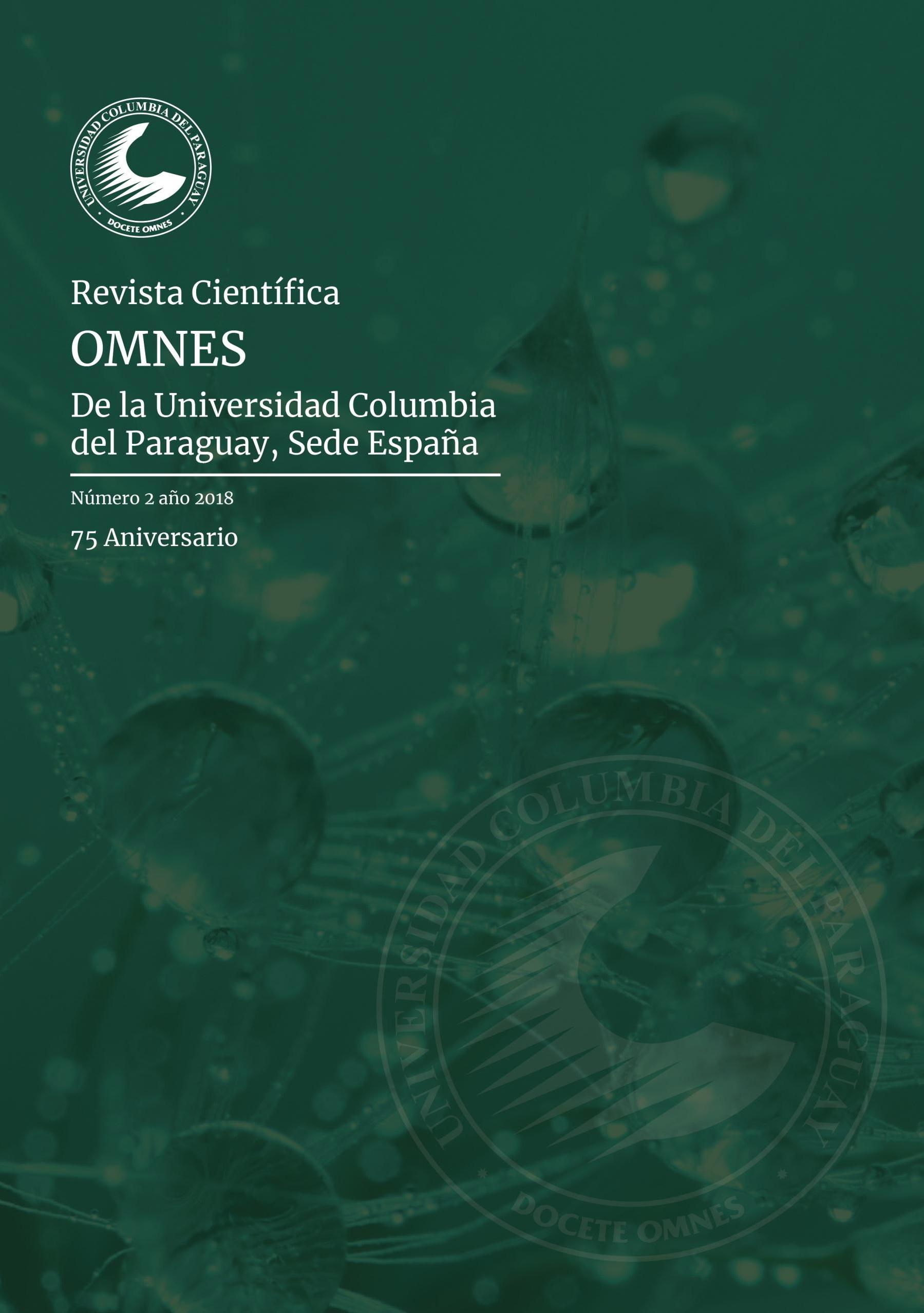 Ver Núm. 2 (2018): Revista Científica Omnes, de la Universidad Columbia del Paraguay